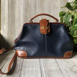 Vintage • Leather Doctor Bag Crossbody